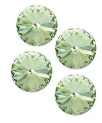 Rivoli puntsteen 12mm Crysolite groen. Per stuk.