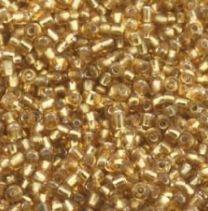 Rocailles kristal goud 12/0. Per 10 gram.