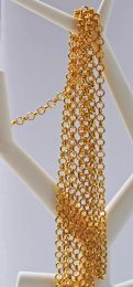 Ketting goudkleurige jasseron schakels 4mm, per 1 meter.