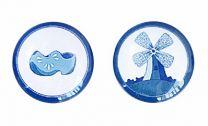 Cabochon set delftsblauw 2, 12mm per stuk