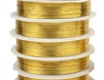 Metaaldraad goudkleurig 0.38mm 15meter