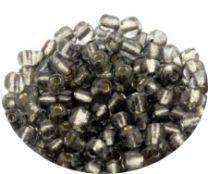 Rocailles donker zilvergrijs 6/0. Per 10 gram