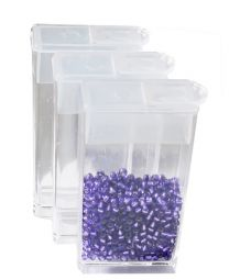 Fliptop doosjes transparant 50x25x12mm, per 4 stuks
