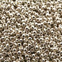 Rocailles 11/0 Miyuki Galvanized zilver, 10 gram.