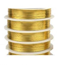 Draad goudkleurig 0,4mm 8 meter