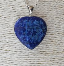 Hanger Lapis Lazuli Hartje, 37x35x8mm