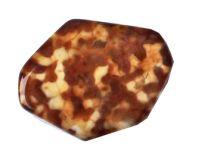 Kraal Agaat bruin gevlekt en gestreept 25x20x2mm