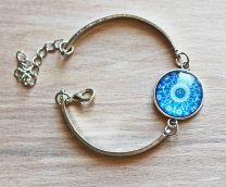 Armband met ronde blauwe mandala (1)