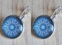 Oorbellen blauwe mandala
