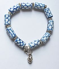 Armband delftsblauwe buiskraaltjes