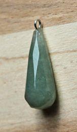 Hanger Jade facetgeslepen groen, 27x10mm