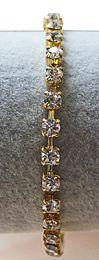Armband kleine kristalkraaltjes, 17,5 cm.