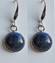 Oorbellen Lapis Lazuli rond 12mm