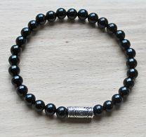 Armband Agaat zwart, 6mm kralen