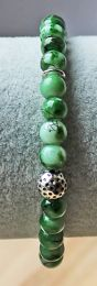 Armband gemeleerd groene 6mm kralen