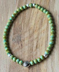 Armband zacht turkoois groene kralen 4mm