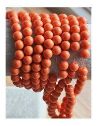 Glaskralen opaque oranje 8mm, per 50 stuks.