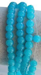 Glaskraal cyanide blauw 6mm, per 50 stuks.