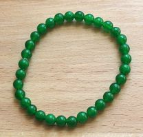 Armband  jade groen 6mm