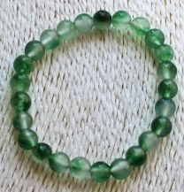 Armband jade beetje transparant, groen 8mm