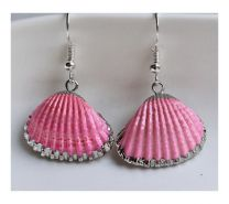Oorbellen roze schelphangers