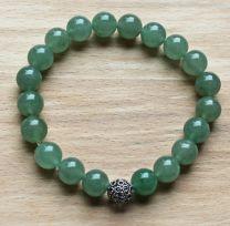 Armband Aventurijn zacht groen, 10mm kralen