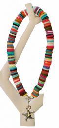 Armband multi kleur katsuki kralen met zeesterretje bedel