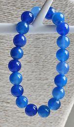Armband Agaat blauw 10mm