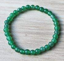 Armband Aventurijn groen, 6mm kralen