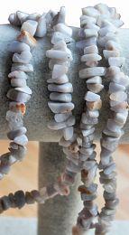 Snoer splitkralen natuursteen zacht blauw-grijs 80cm
