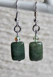 Oorbellen Jade groen