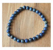 Armband lapis lazuli kralen 6mm natuurlijk