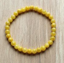 Armband gele jade 6mm