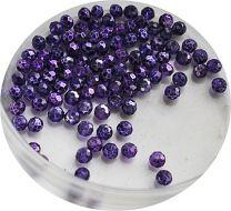 Zakje facetgeslepen paarse glaskralen 4mm