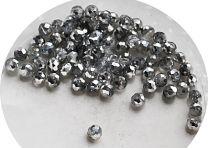 Zakje facetgeslepen zilver kleur glaskralen 4mm