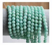 Snoer Jade kralen Amazoniet kleur 6mm
