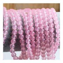 Snoer Jade roze kralen 6mm