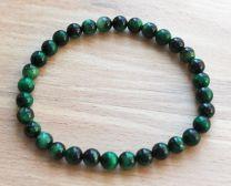 Armband Tijgeroog groen 6mm.