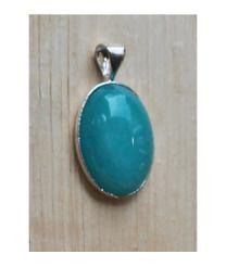 Hanger Jade amazoniet blauw-groene kleur 18x13mm