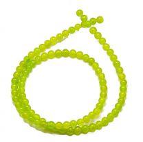 Snoer Jade geel-groen 4mm