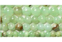 Snoer jade kralen zachtgroen, 6mm