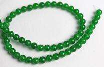 Snoer Jade opaque groen. 6mm. Per kraal.