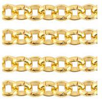 Ketting goudkleurig met fijne schakeltjes, 60cm.