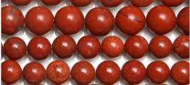 Kraal Jaspis rood, 8mm. Per kraal. Natuurlijk.