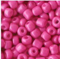 Rocailles karmozijn roze 6/0, per 10 gram