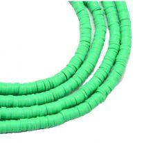 Snoer Katsuki of polymeer klei kralen helder groen 6mm