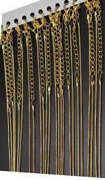Ketting goudkleurig metaal, 40cm plus verlengketting.