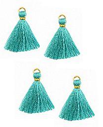 Kwastje of tassel Pagoda blauw 15mm