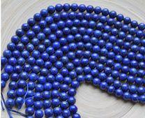 Klein snoer Lapis Lazuli kralen 10mm, 18 kralen.