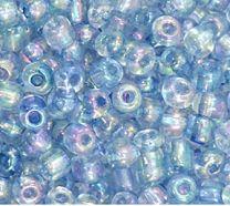 Rocailles Lavendel blauw transparant AB 6/0. Per 10 gram.